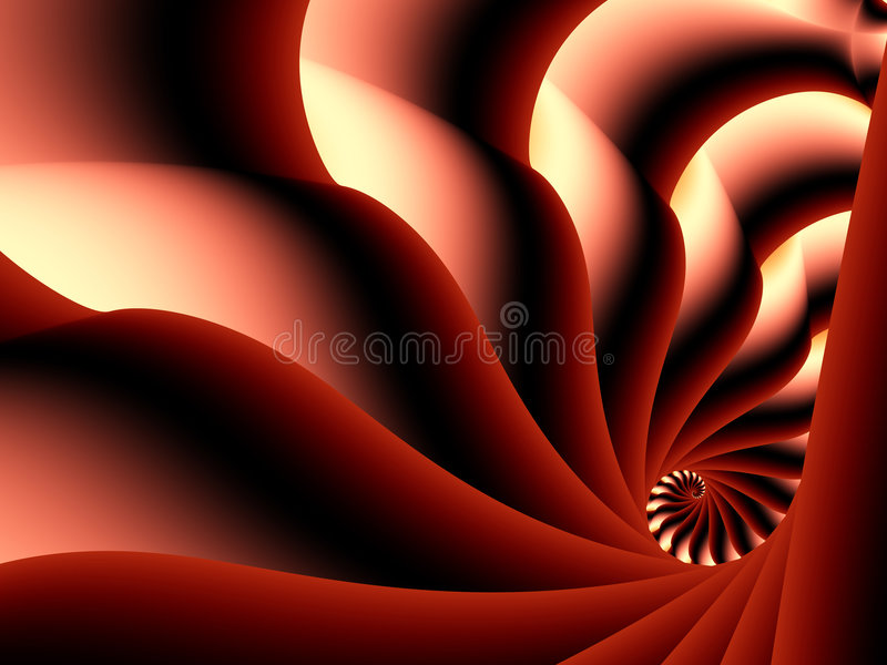 Secret Spiral Tunnel Stock Photography