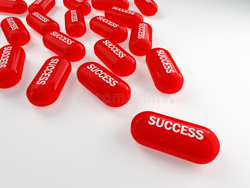 Secret of success. 3d of red pills of success vector illustration