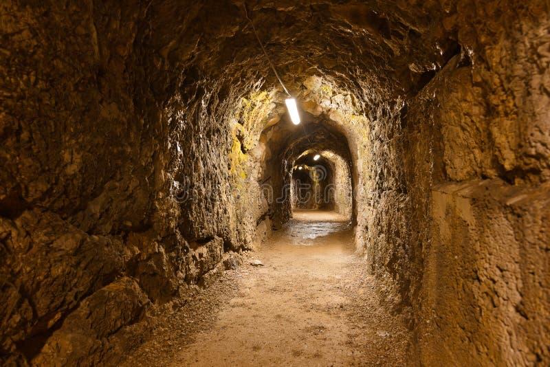 Secret tunnel in Castle Kufstein - Austria stock images