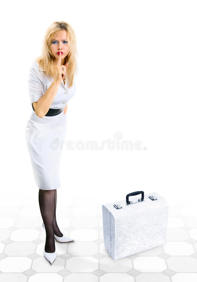 Download Secret. Woman Shows Hush. Royalty Free Stock Photography - Image: 22990087