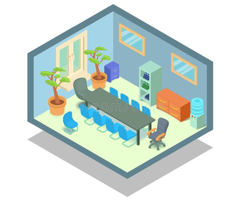 Secretaire concept banner, isometric style royalty free illustration