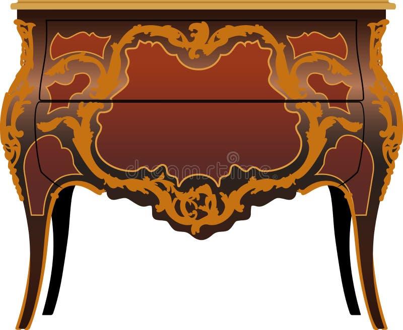 Secretaire de meubles antiques illustration de vecteur
