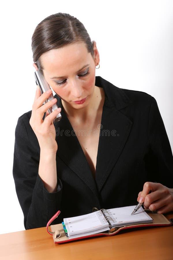 Secretaresse op het werk royalty-vrije stock afbeeldingen