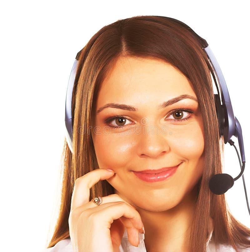 Download Secretaresse/telefoonexploitant Stock Foto - Afbeelding bestaande uit hoofdtelefoons, portret: 10784350