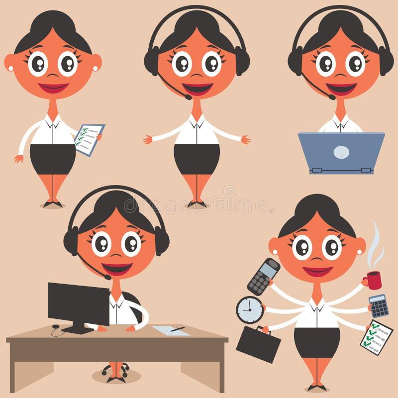 secretaria stock de ilustración