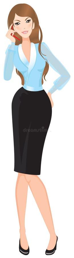 Secretaria de la mujer de negocios libre illustration