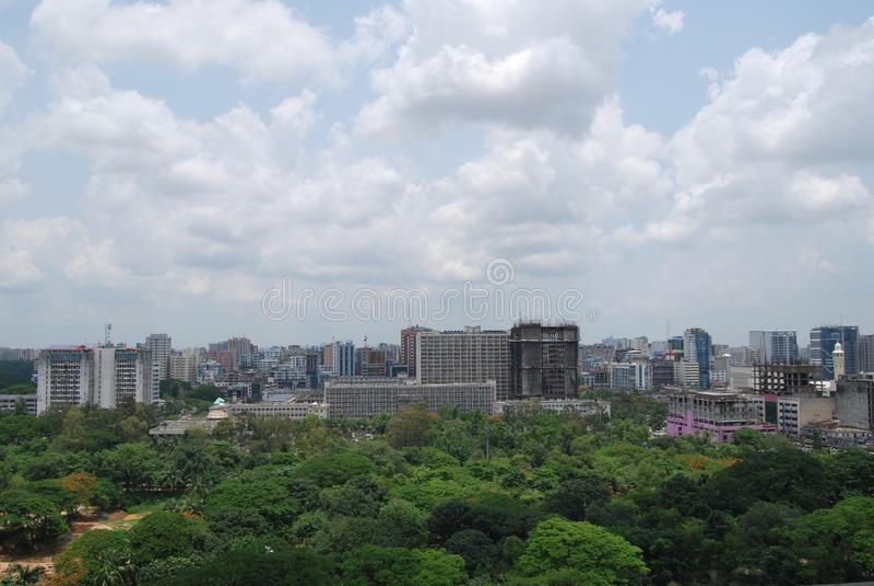 SECRETARIADO DA CIDADE BANGLADESH DE DHAKA imagens de stock royalty free
