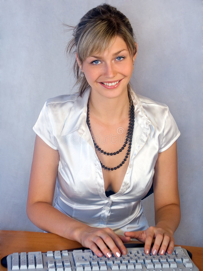 Download Secretarial work stock photo. Image of blond, keyboard - 3481052
