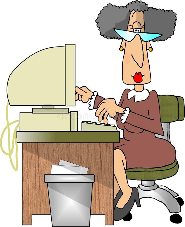 Download Secretary stock illustration. Illustration of work, lady - 160989