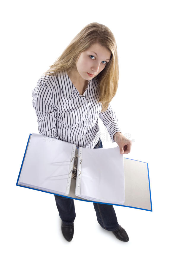 Secretary With File Stock Images