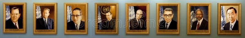 Secretary-Generals of the UN stock photography