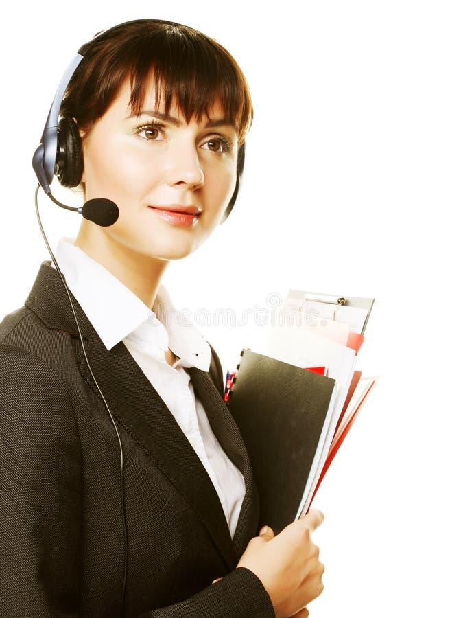 Download Secretary Isolated On White Stock Photo - Image of girl, happy: 11911334