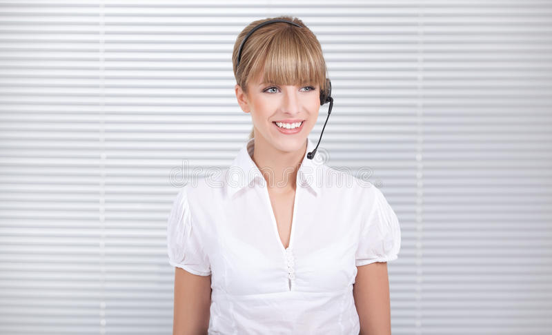 Secretary on the job stock image