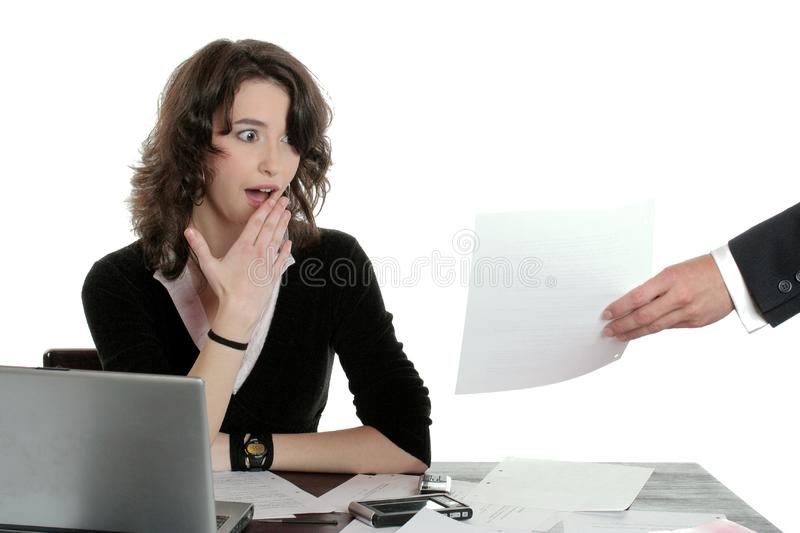 Secretary in Trouble stock photography