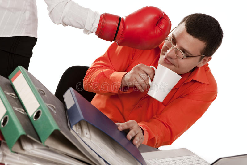Download Secretary Try To Impact On The Businessman Stock Image - Image: 16377343