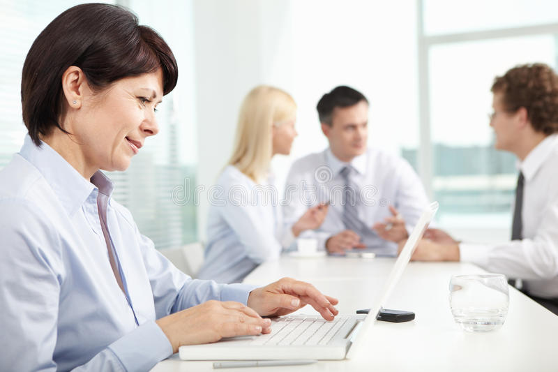 Download Secretary typing stock image. Image of associate, office - 22576775