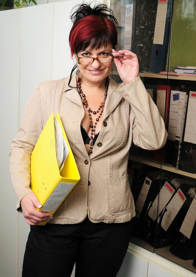Download Secretary woman stock image. Image of glasses, assistant - 22919935