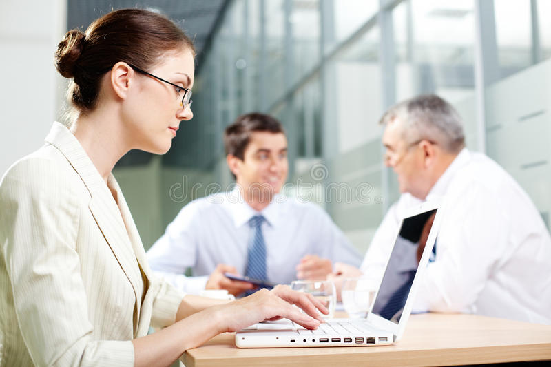 Download Secretary working stock photo. Image of laptop, business - 25941240