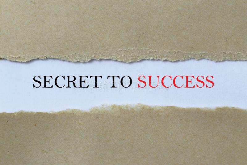 Secreto al mensaje de éxito foto de archivo
