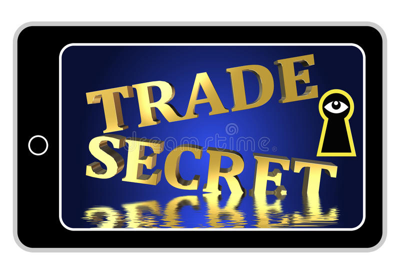 Secrets commerciaux en jeu illustration libre de droits