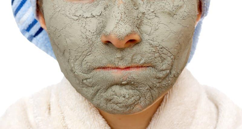 Secrets de peau affermissant le masque facial photos libres de droits