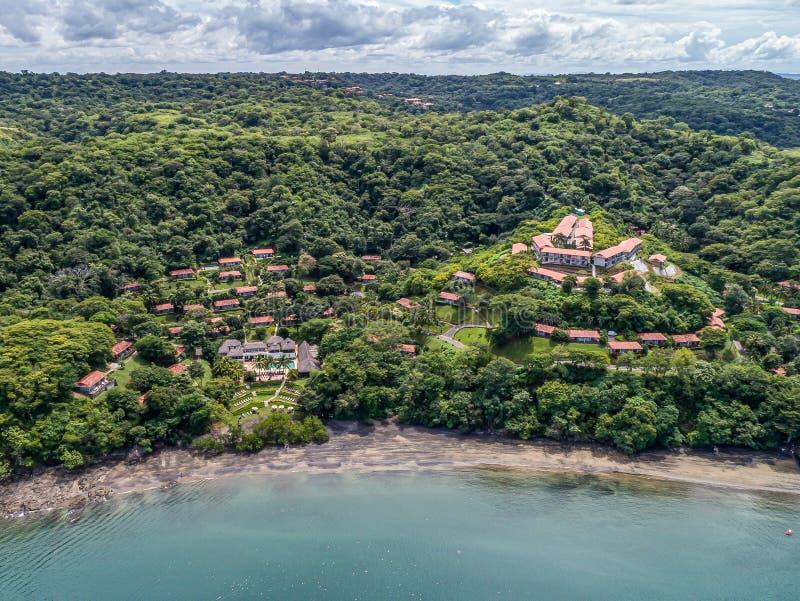 Secrets Papagayo Luxury hotel with beach Golfo de Papagayo in Guanacaste, Costa Rica.  stock photo