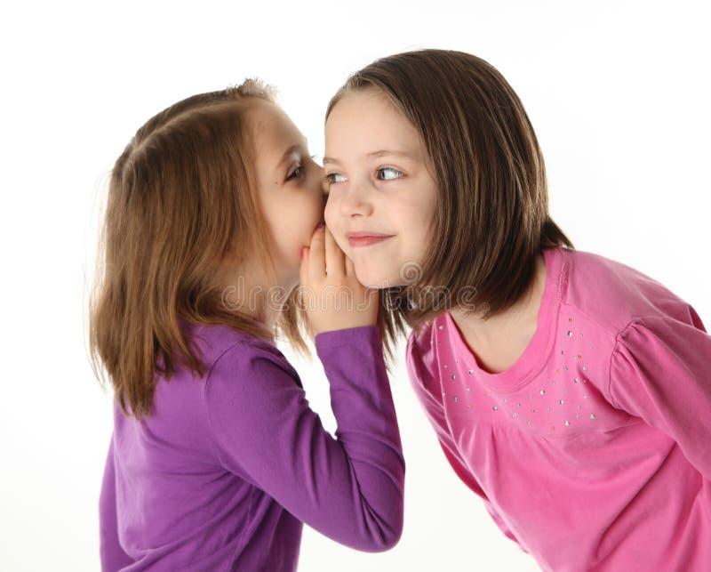 Secrets between sisters stock image