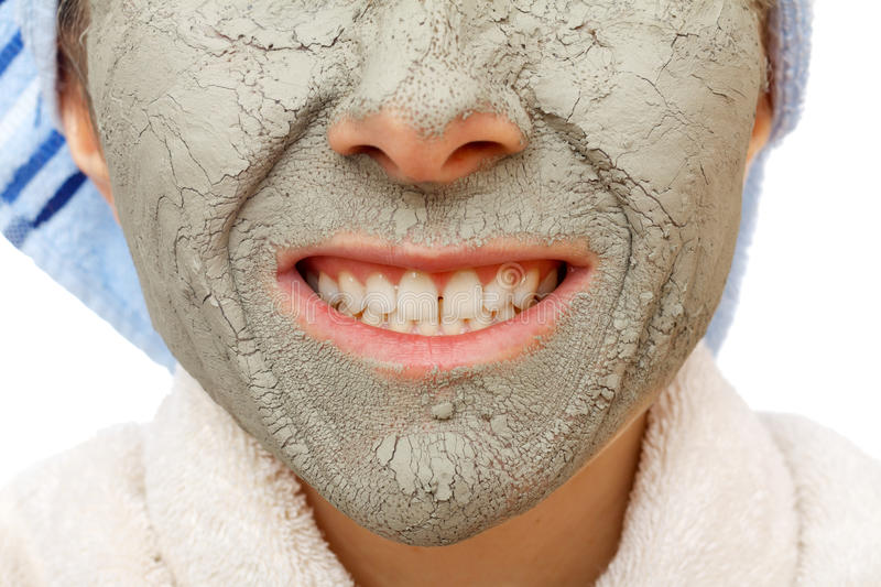 Secrets of skin firming facial mask. Skin firming facial mask for the beauty and healthy skin stock images