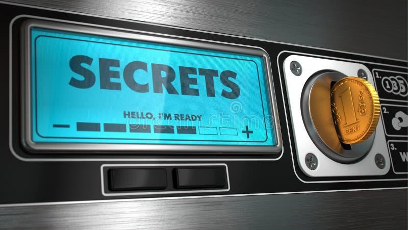Secrets sur l'affichage du distributeur automatique  photos libres de droits