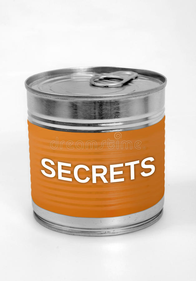 Secrets word royalty free stock image
