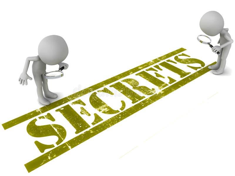 Secrets royalty free illustration