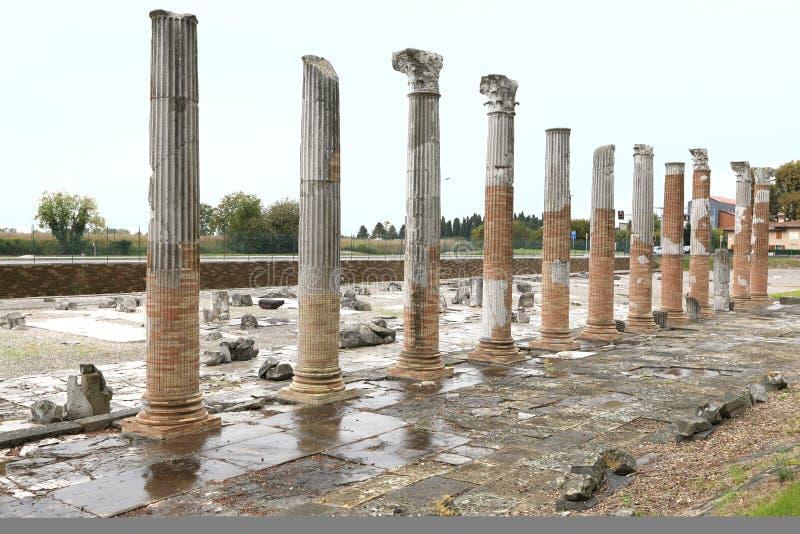 Secteur archéologique d'Aquileia photos libres de droits