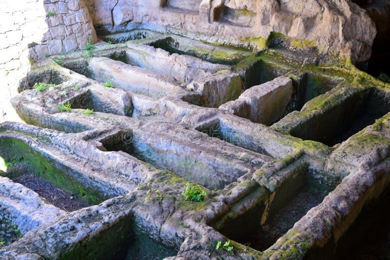 Secteur archéologique d'ispica image stock