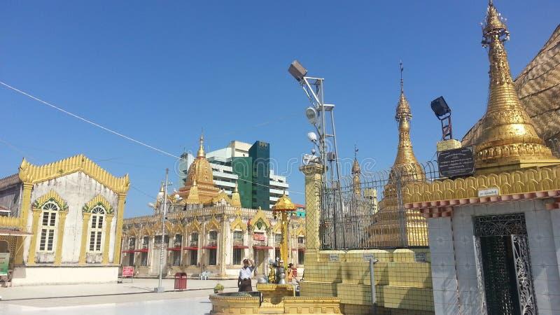 Secteur autour de ville Yangon Myanmar de botanique de pagoda photographie stock libre de droits
