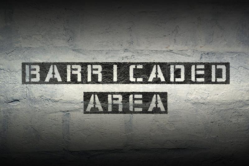 Download Secteur barricadé GR image stock. Image du barricade - 87708991