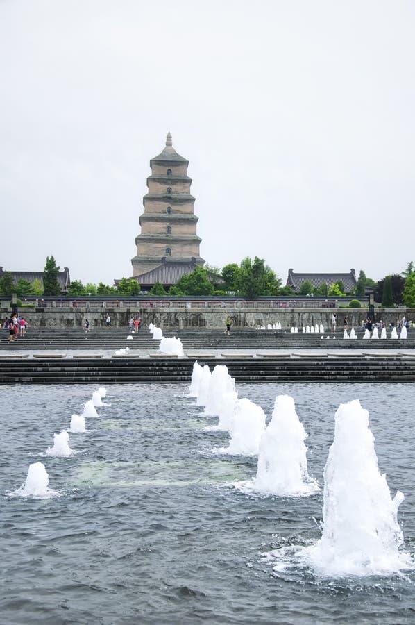 Secteur culturel Xian China de saveur carrée du nord image stock