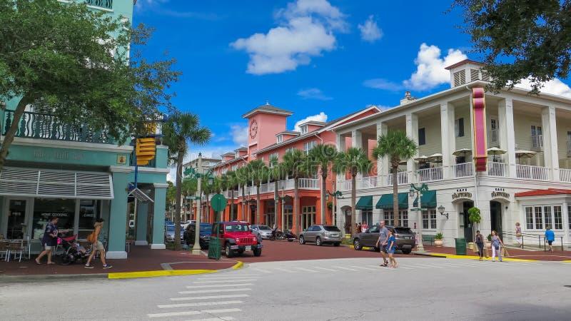 Secteur d'achats de la Floride de célébration images stock