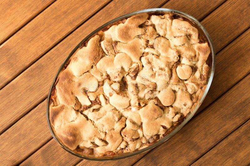 Secteur d'Apple frais cuit au four Fin vers le haut homemade tout préparé Principal v photographie stock