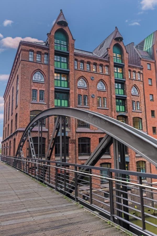 Secteur d'entrepôt de Speicherstadt, Hambourg, Allemagne image libre de droits