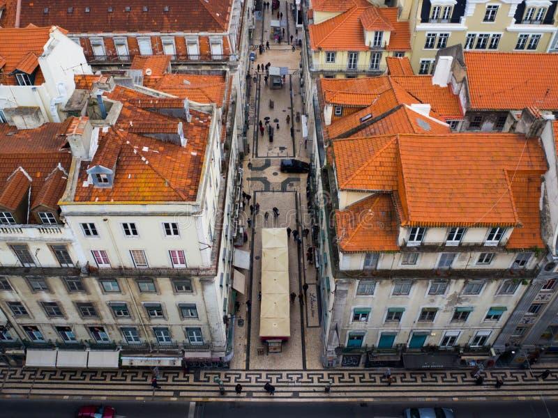 Secteur de Baixa, Lisbonne, Portugal photographie stock libre de droits