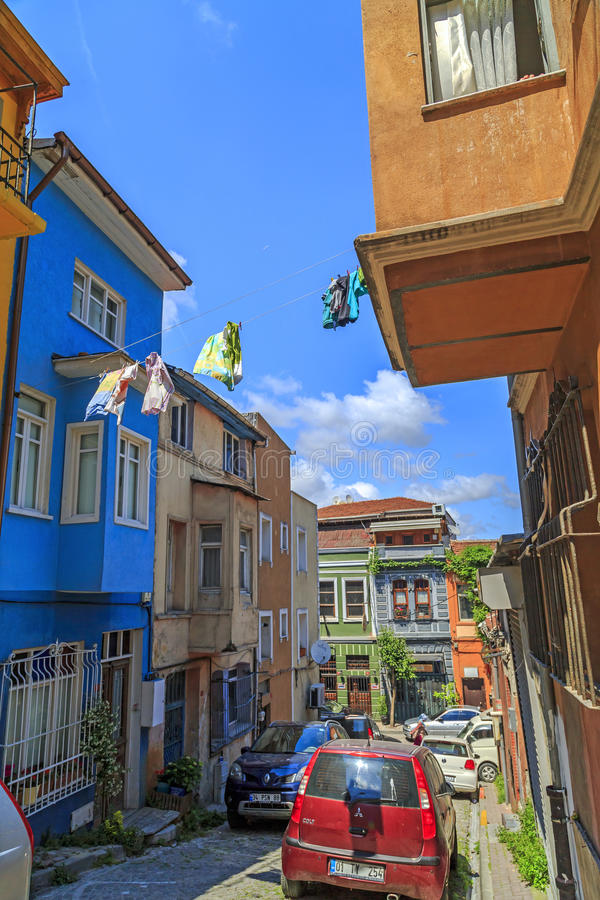 Secteur de Balat, Istanbul, Turquie photo stock