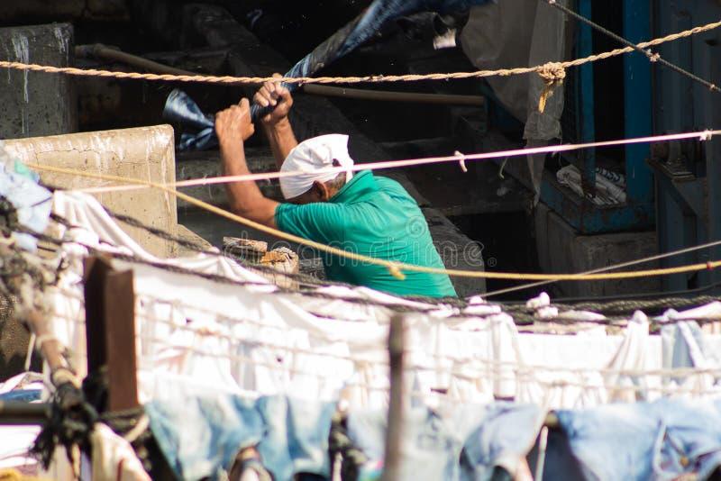 Secteur de blanchisserie de Dhobi Ghat Mumbai image stock