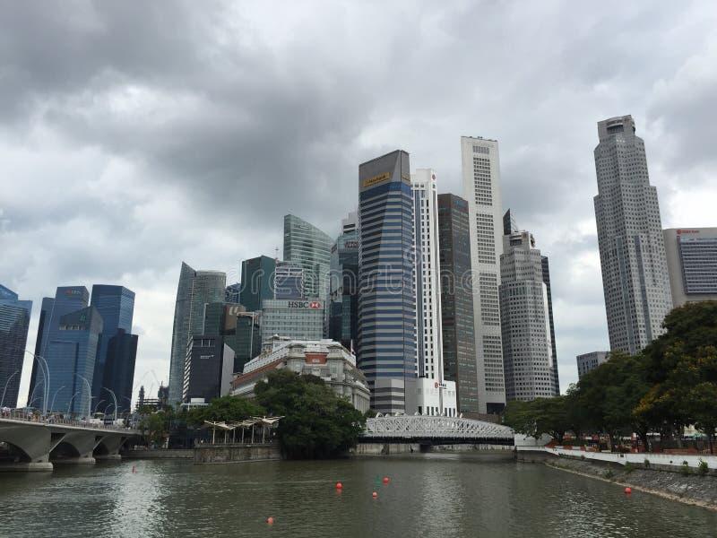 Secteur de CBD à Singapour photo stock