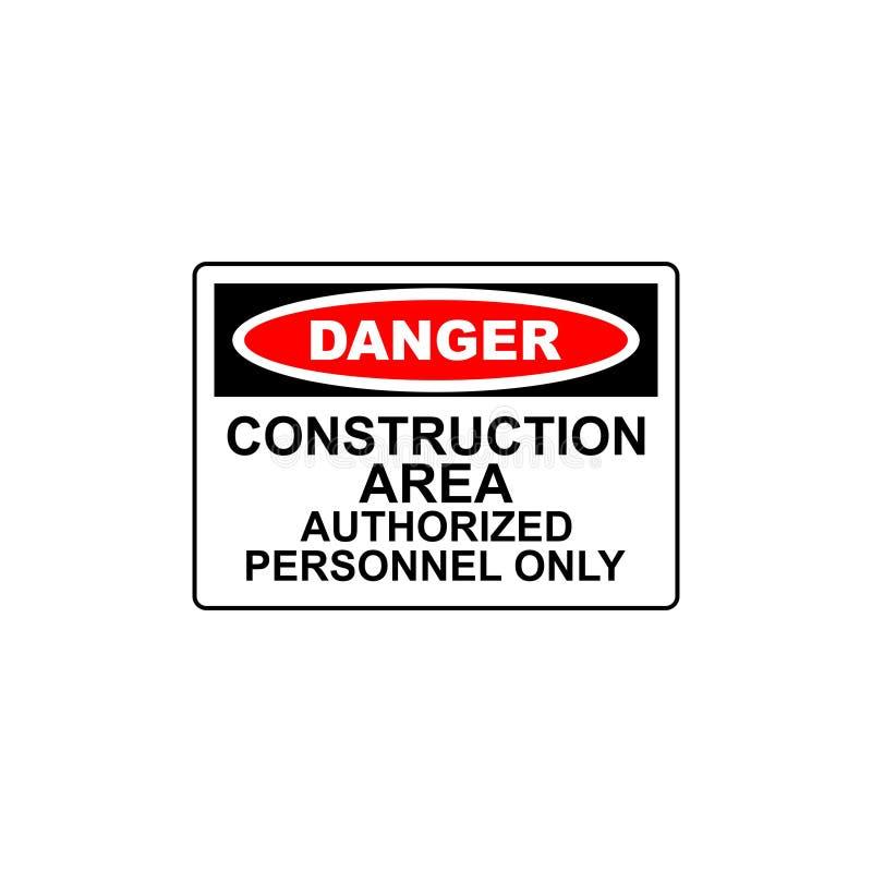 secteur de construction de signe de danger de vecteur illustration stock