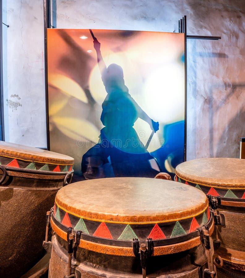 Secteur de culture de Dix tambours à Tainan qui est reconstruction images stock