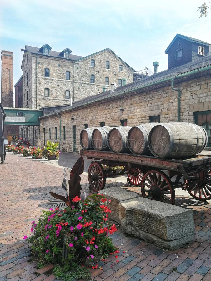 Secteur de distillerie, Toronto Ontario photo libre de droits