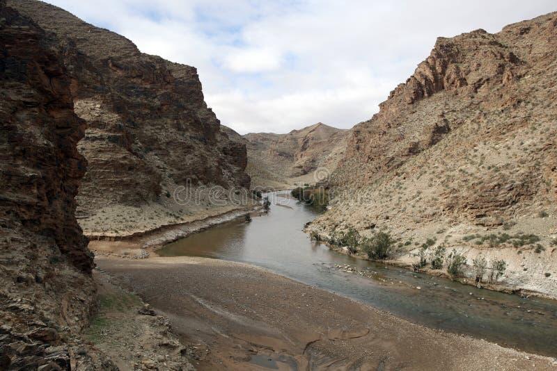 Secteur de extraction français, montagnes d'atlas, Maroc images libres de droits