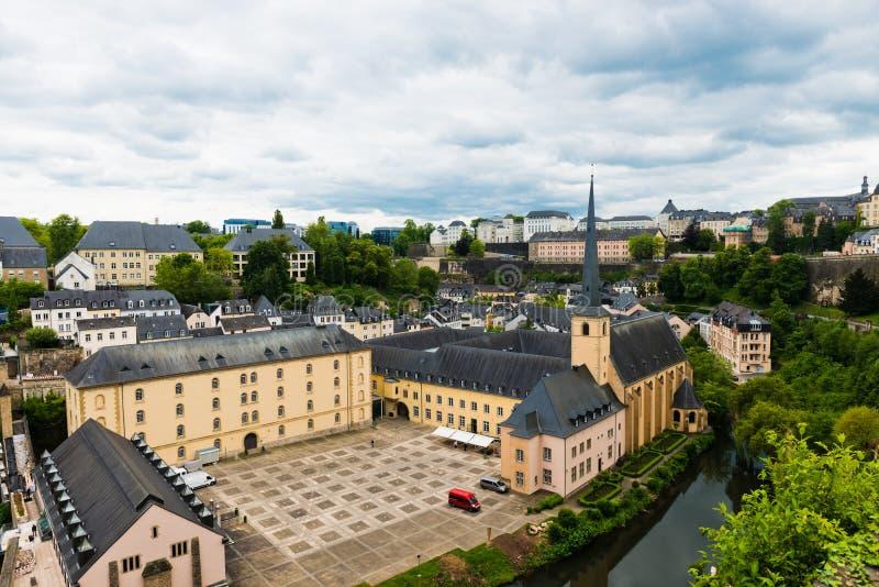 Secteur de Grund de la ville du Luxembourg images stock
