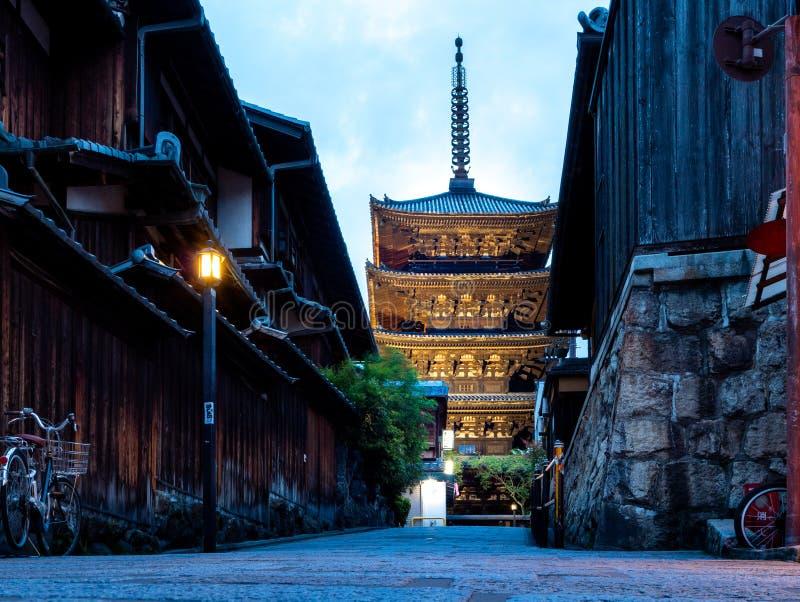 Secteur de Higashiyama et pagoda de Yasaka image libre de droits