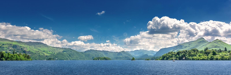Secteur de lac en Angleterre du nord image stock